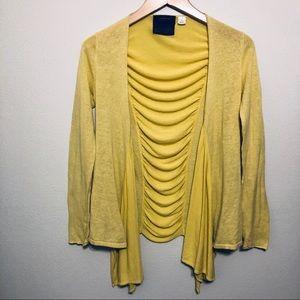 Anthropologie GUINEVERE, Yellow Cardigan